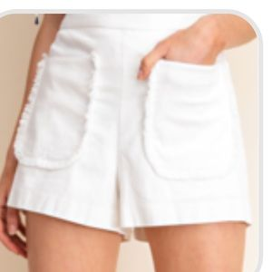 Pants - White stretchy shorts. Fully lined
